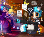 Collab for Halloween pt2 by lizathehedgehog