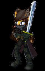 Liza cosplays Bloodborne Hunter by lizathehedgehog