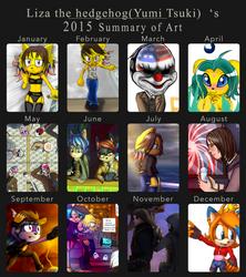 Liza the hedgehog`s (Yumi Tsuki) 2015 summary art by lizathehedgehog