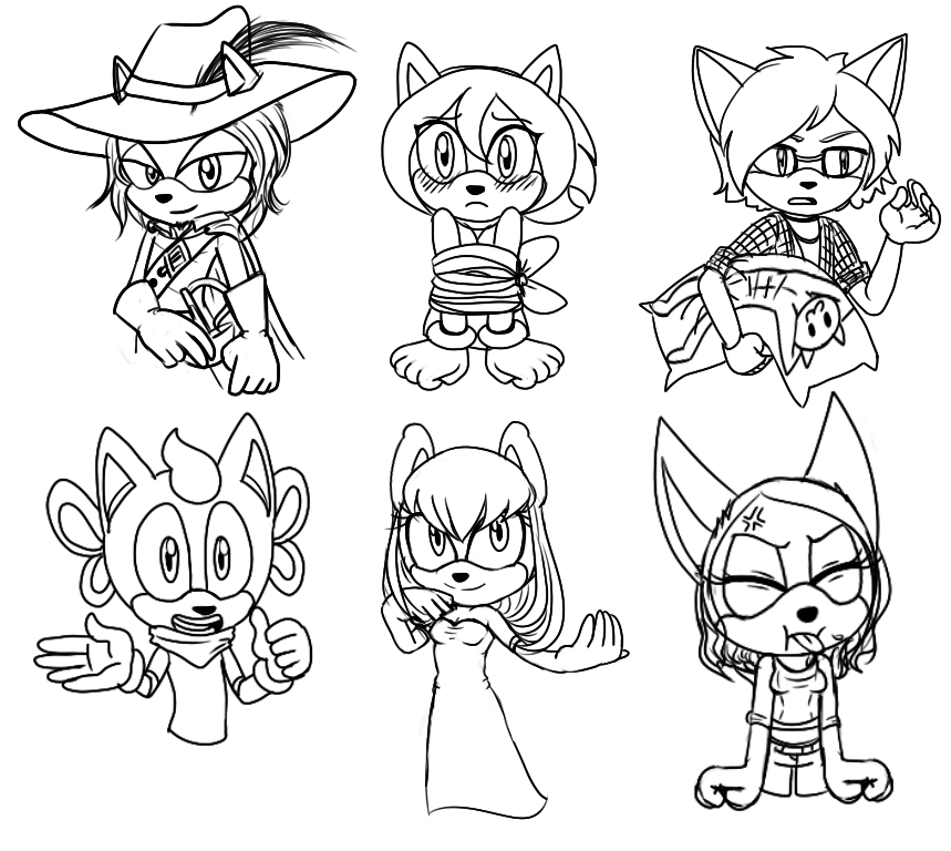Sketches from stream #1 by lizathehedgehog