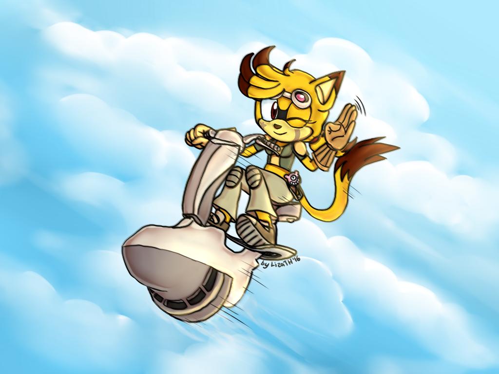 Derah the racer by lizathehedgehog