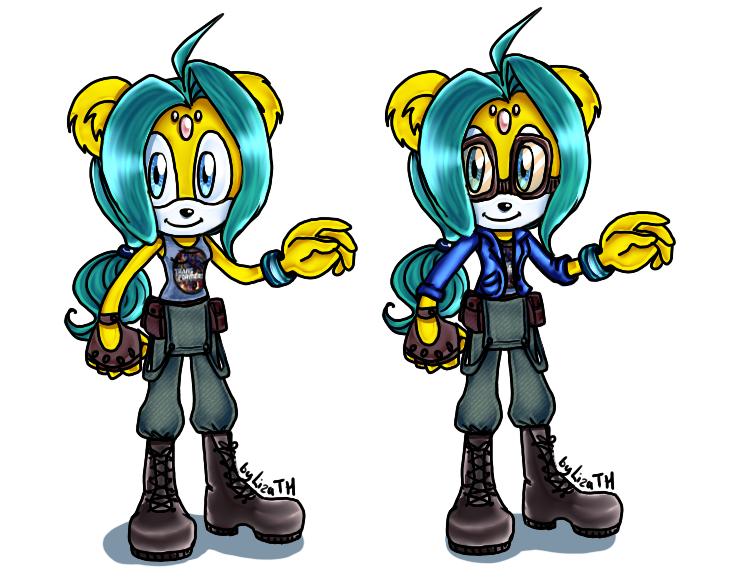 Haos TM new outfit by lizathehedgehog