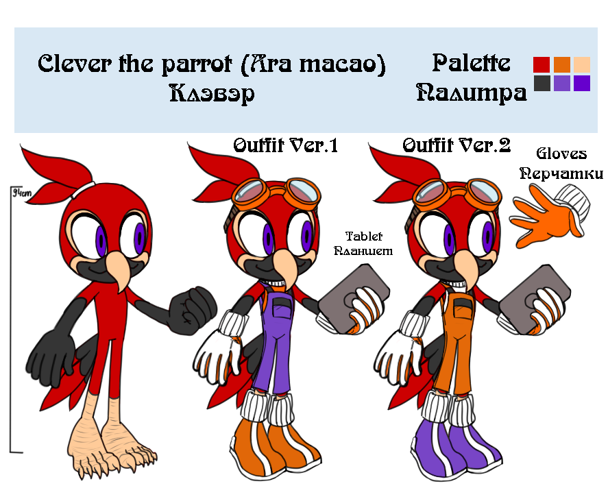 Clever the parrot reference by lizathehedgehog