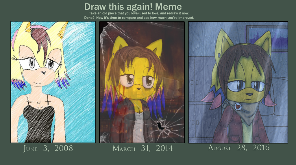 Draw this again meme - Behind the glass by lizathehedgehog