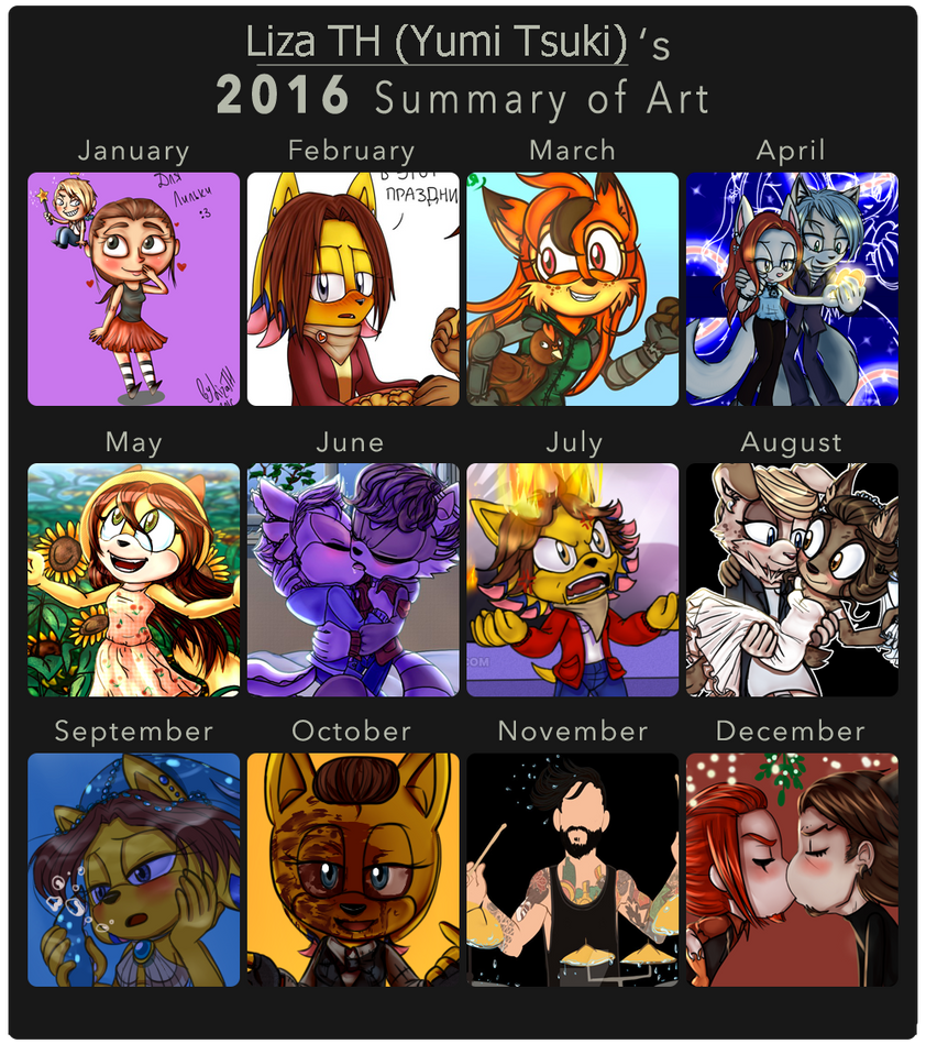 2016 Summary of Art by lizathehedgehog