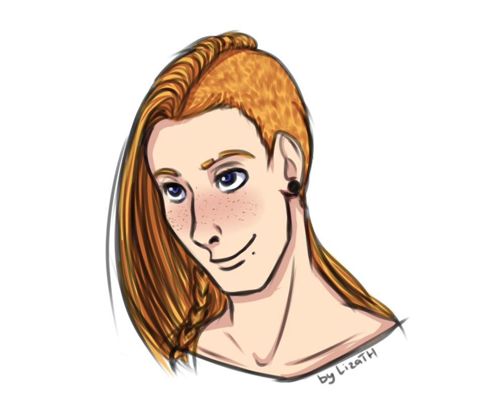 Brian portrait by lizathehedgehog