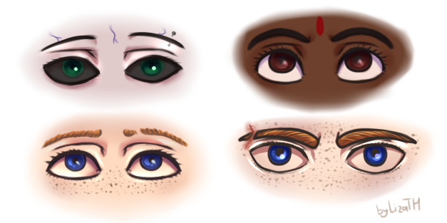 Eyes by lizathehedgehog