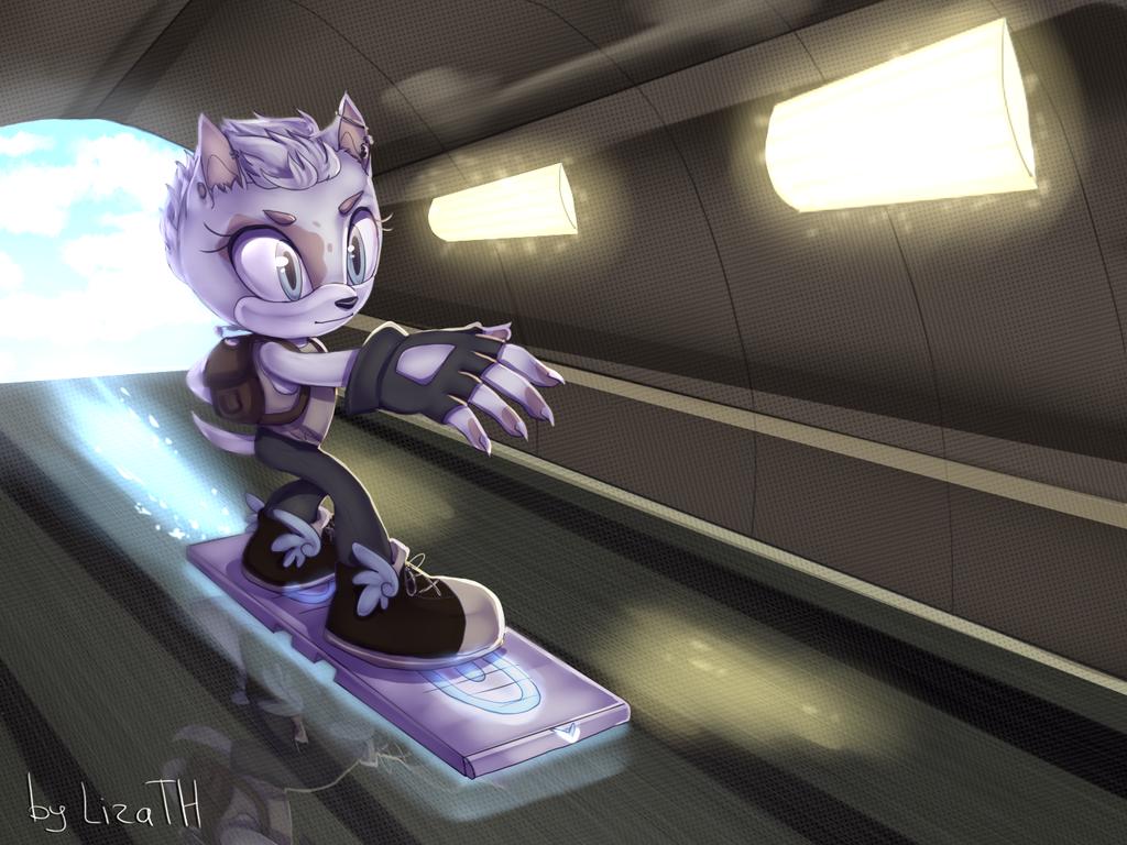 Through the tunnel by lizathehedgehog