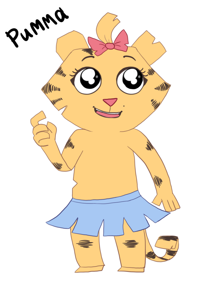 Rimma the paper tiger by lizathehedgehog