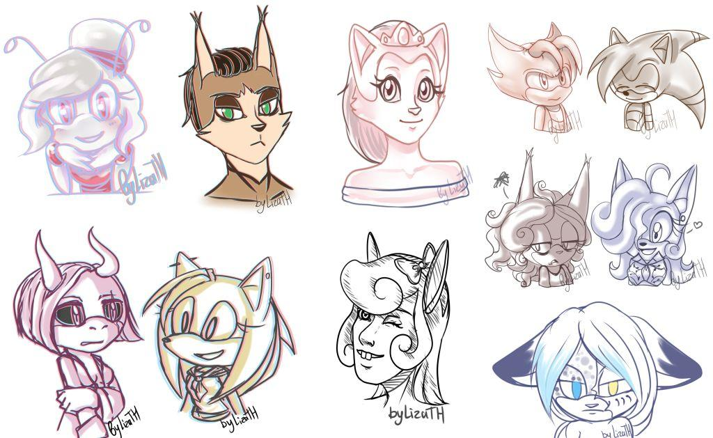 Request sketches compilation by lizathehedgehog