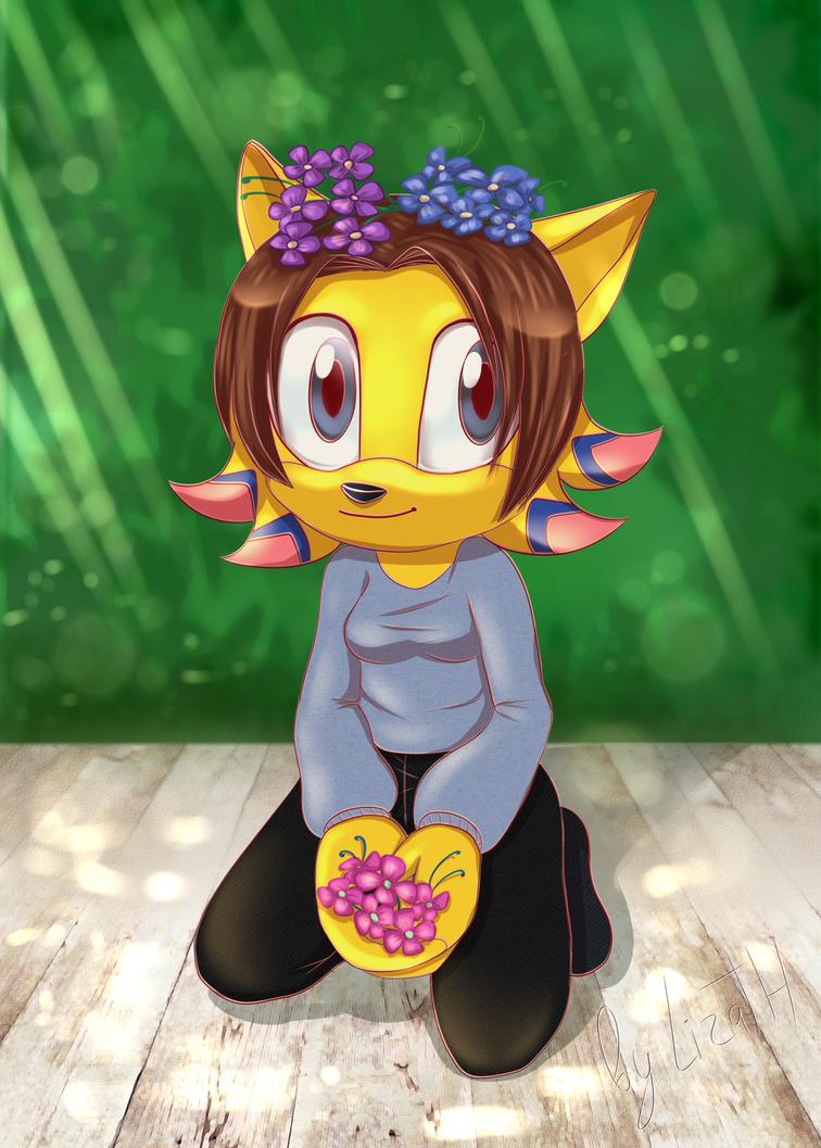 Spring hedgie by lizathehedgehog