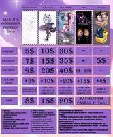 Commission pricelist (NEW) by lizathehedgehog