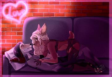 Neon love by lizathehedgehog