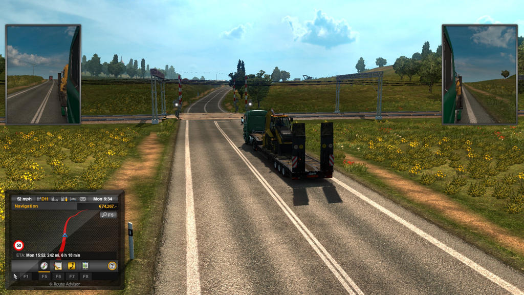 Euro Truck Simulator 2 - A level crossing by toainsully on