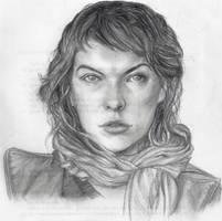 Mila Jovovich Quicky Draw