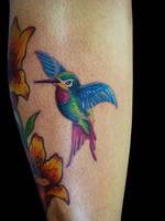 hummingbird Tattoo by inagugo
