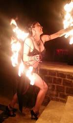 Transylvania fire show