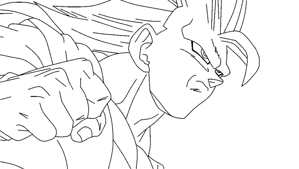 Super Saiyan 3 Goku Lineart By Duskoy On DeviantART