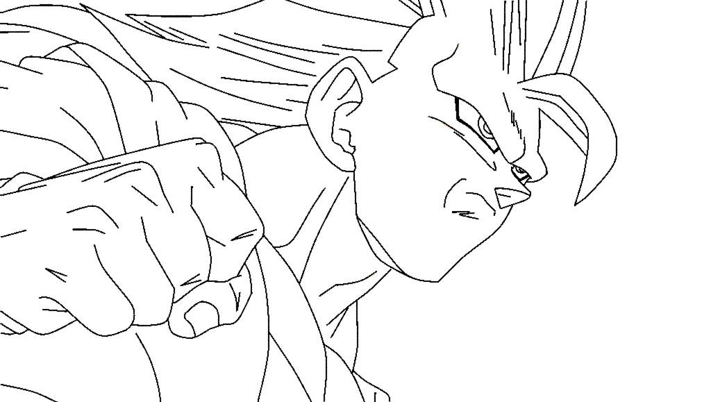 Lujo Imagenes Para Colorear De Goku Fase 4: Super Saiyan 3 Goku Lineart By Duskoy On DeviantArt