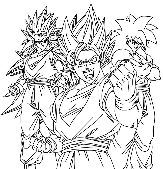 Imagenes Para Colorear De Goku Ssj De La 1 A La 15 Imagui