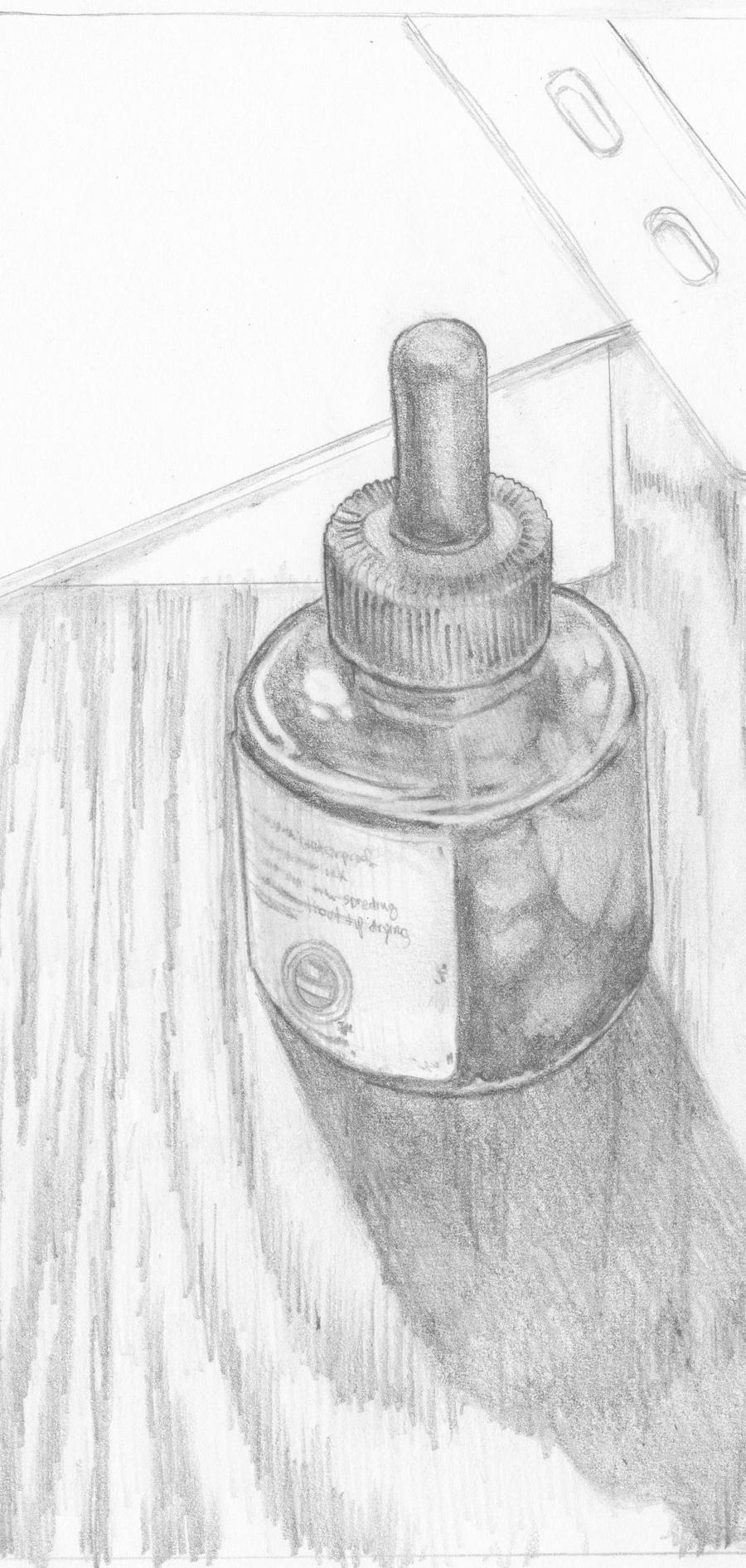 Life Drawing - Ink Bottle by ThirteenthBullet on DeviantArt