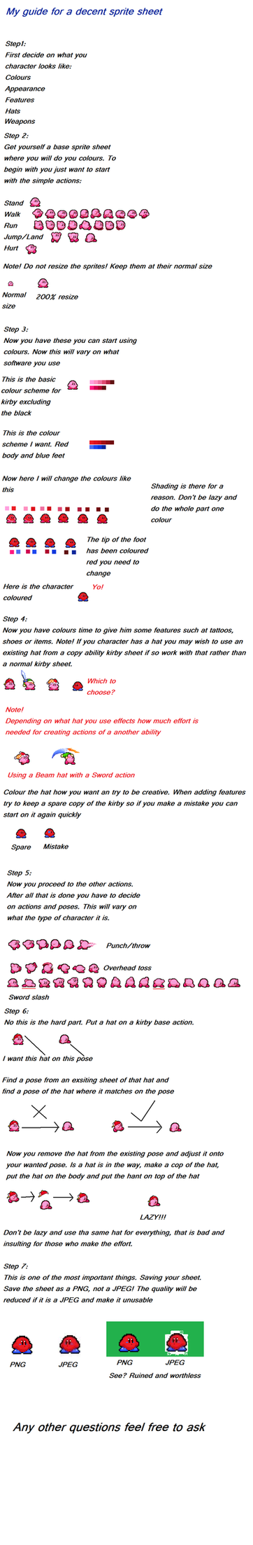 Kirby sprite sheet tutorial by BioMetalNeo