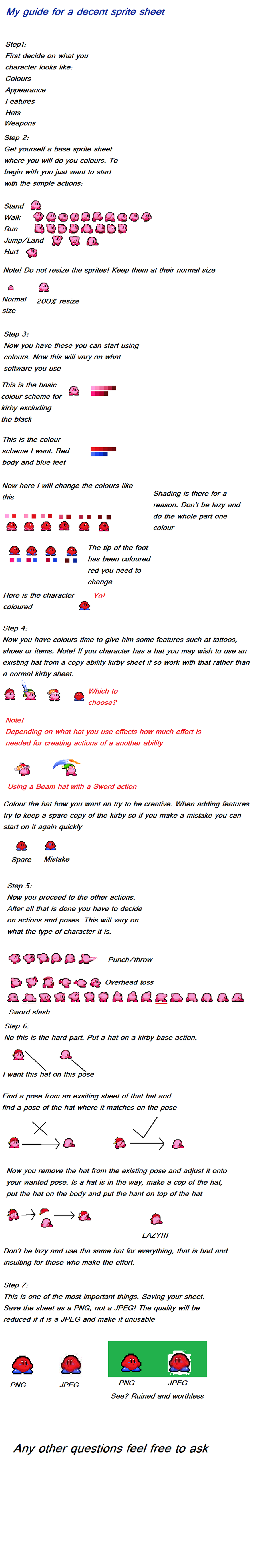 Kirby sprite sheet tutorial by BioMetalNeo