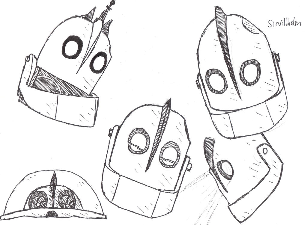 Iron Giant heads by Sirvillhelm