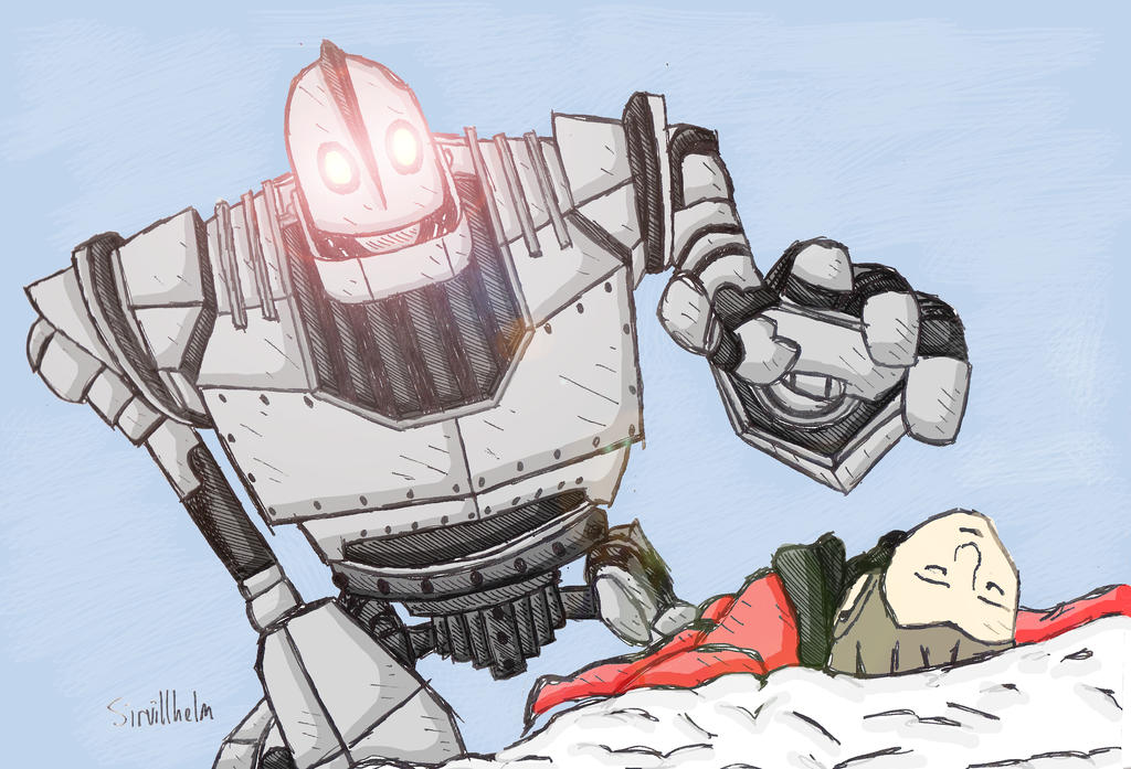 The Iron Giant believes he killed Hogarth by Sirvillhelm