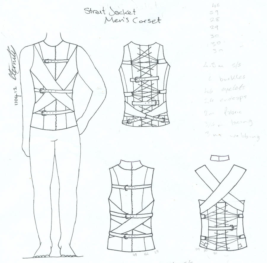 Men's Strait Jacket Corset by Vic-Dustrael on DeviantArt