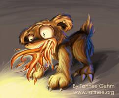 Fire Teddy by e-tahn