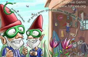 Garden Gnomes by e-tahn