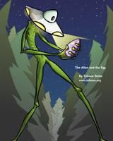Alien and the Egg by e-tahn