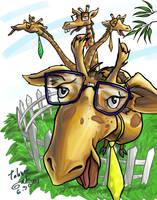 Geeky Giraffes by e-tahn