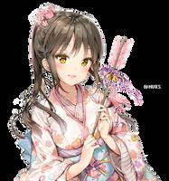 Anime Girl (Original)   Render #001 by Hansume