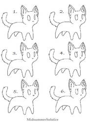 Chibi Male/Female Cat Adopt Base by MidsummerSolstice