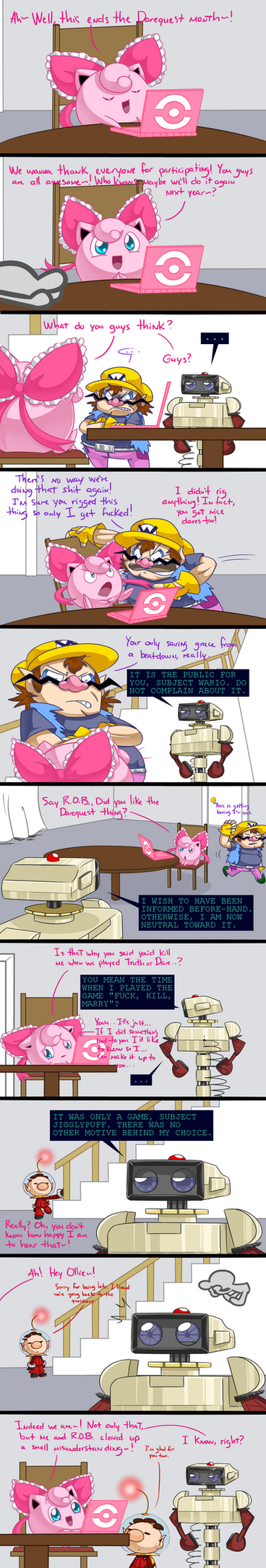 End of the Darequests - Back to the Questions by Oddballs-Of-Smash