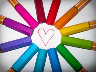 Pens :D by VikklePickle