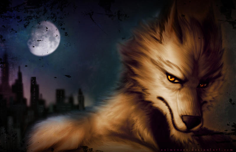 Anthro Wolf Wallpaper Wolf Wallpaper by Saimensez