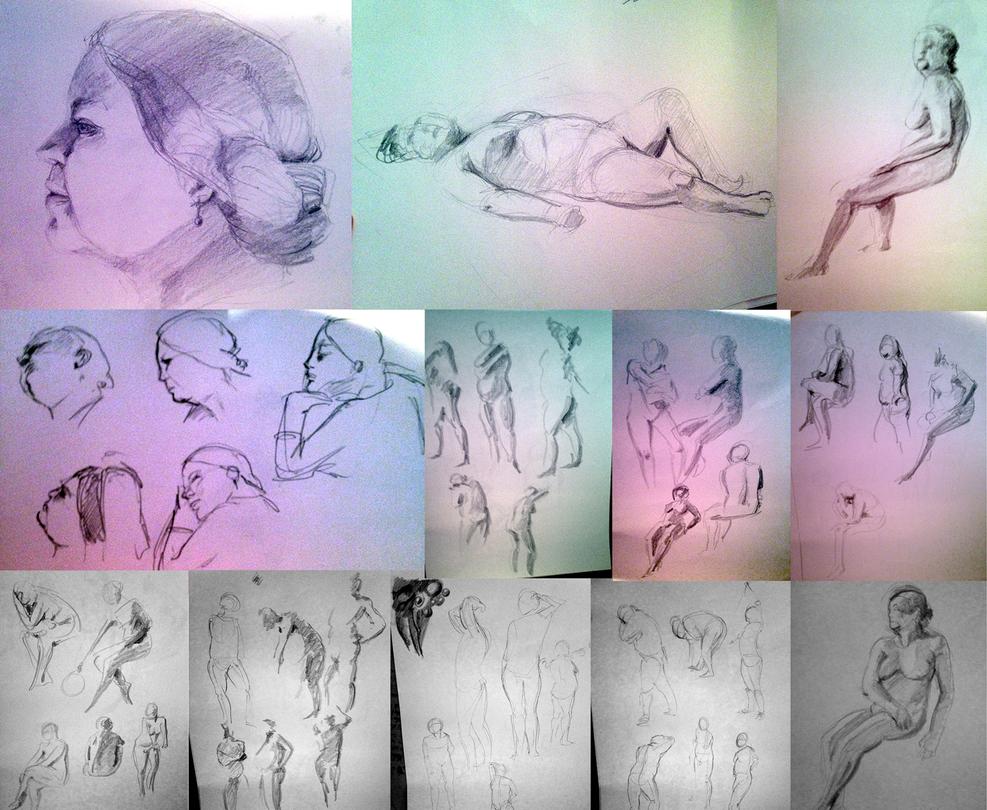 again live drawing II by saimensez