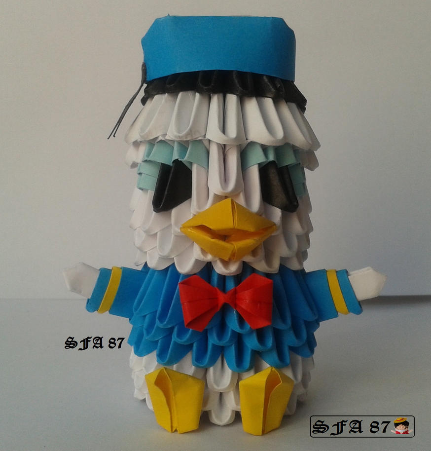 Donald Duck Origami 3d By Sfa87