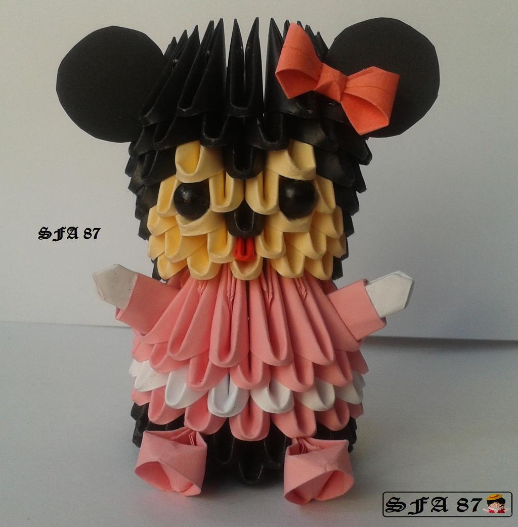 Origami Mickey Amp Minnie Papercraft Mousemouse Origamiorigami Mouse Diagramorigami