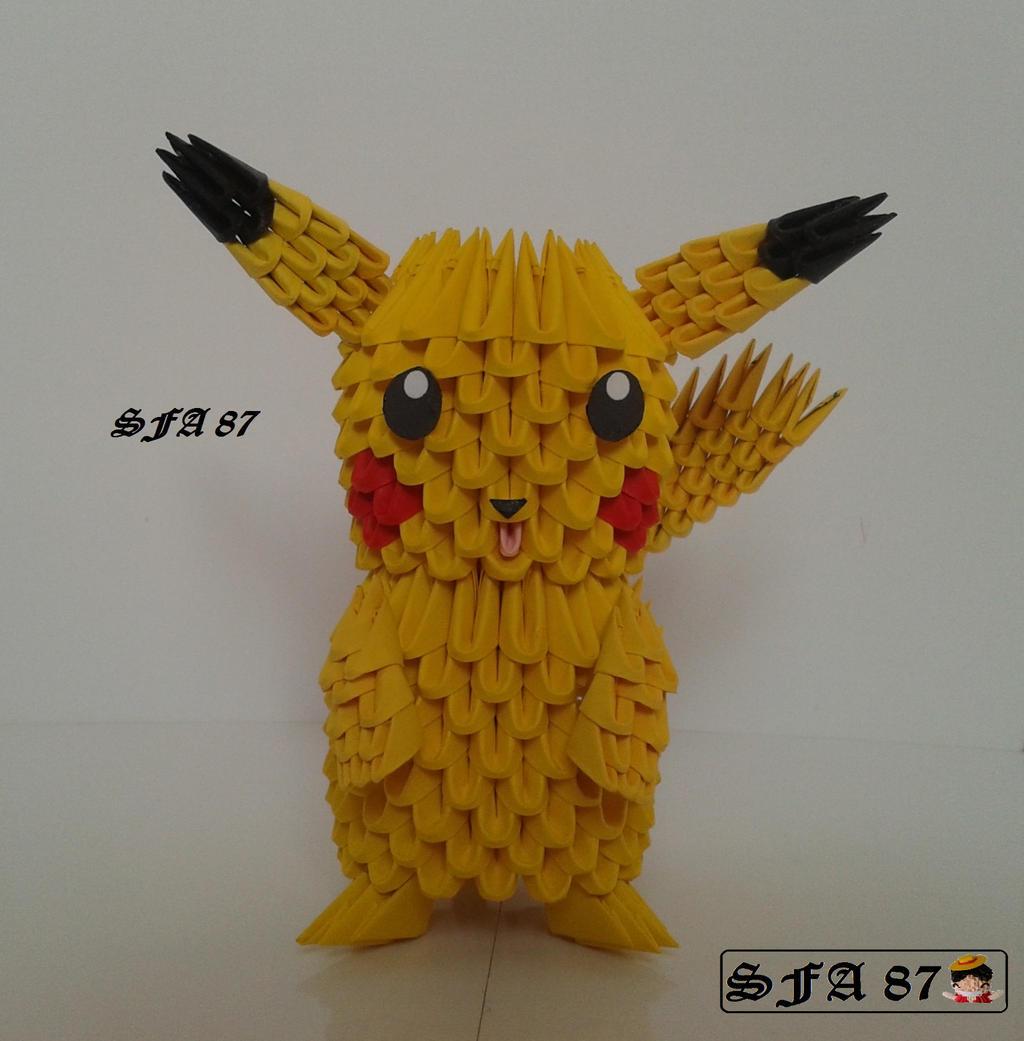 Pikachu Pokemon Origami 3d by Sfa87 on DeviantArt - photo#6