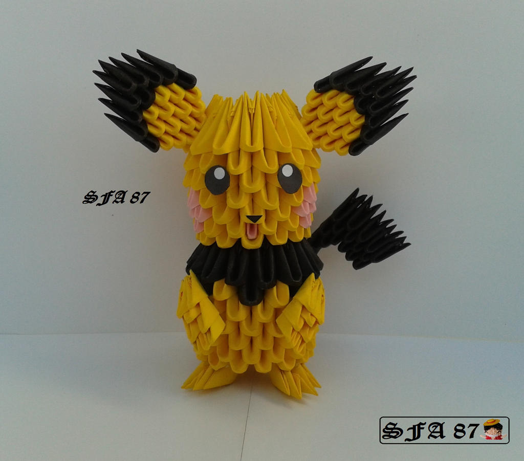 Pichu Origami 3d by Sfa87 on DeviantArt - photo#5