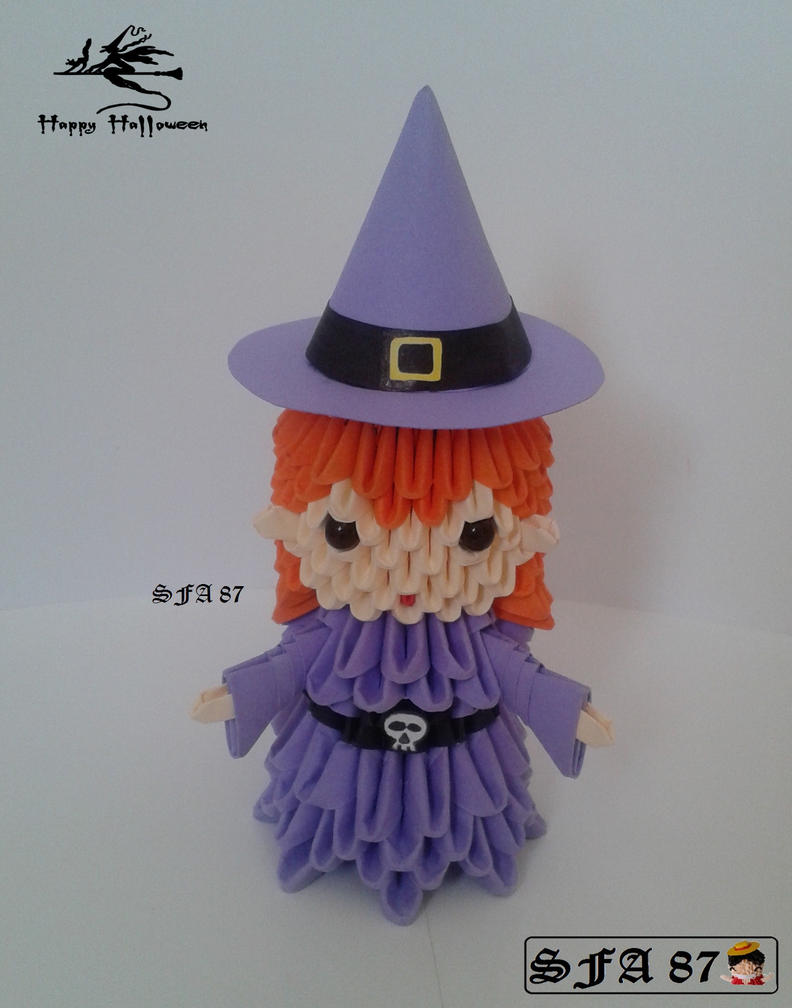 Witch Origami 3D By Sfa87