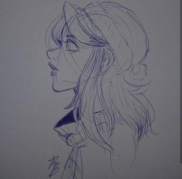 Phoenix Sketch by 7H47-0N3-N3RD