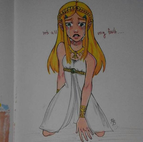 Zelda [Crying] (BoTW) by 7H47-0N3-N3RD