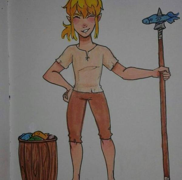 #1 Fisherman in all of Hyrule!!! (BoTW Link) by 7H47-0N3-N3RD