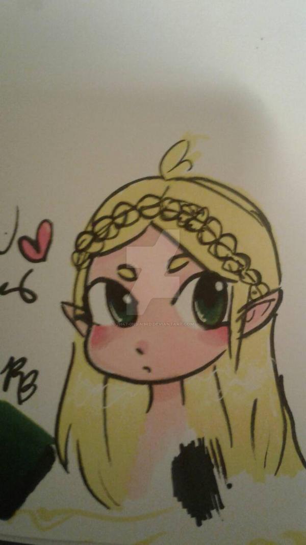 Chibi Zelda (LoZ) by 7H47-0N3-N3RD