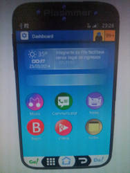 Screens Vision running on Plasmmer Phone